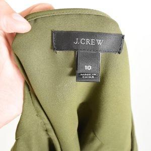 J. Crew Tops - J.Crew Olive Green Crepe Popover Blouse